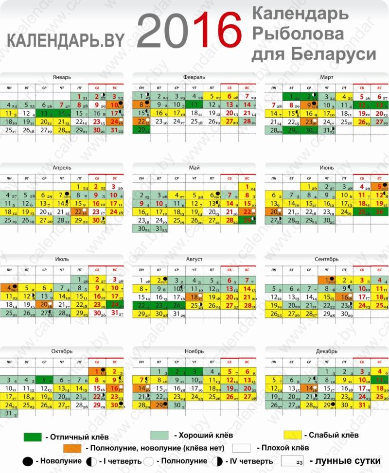 календарь ловли рыбы в приморском крае